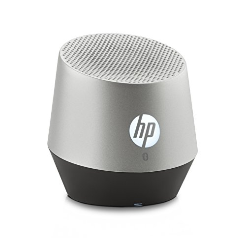 HP S6000 (E5M84AA) Mini Bluetooth Lautsprecher (Bluetooth-fähig, Microsoft Windows XP/Vista/7/8/Android 3.0 /Apple iOS 4.3 , integriertem Akku, bis zu 8 Stunden Laufzeit) silber