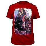 Godzilla Kaiju Double Team Herren Rot T-Shirt | S