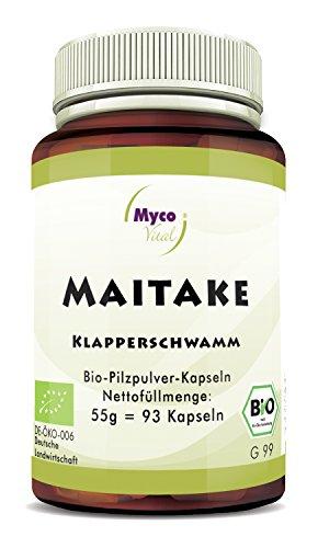 Maitake Kapseln   93 Pilz-Kapseln je 650mg Maitake Pulver   100% Vegan & Bio Maitake Pilze   Natürliche Alternative zu Maitake Extrakt Kapseln Bio (650 100 Kapseln Mg)