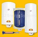 50 80 100 120 150 200 L Liter 2,2 kW 230 Volt Elektro Warmwasserspeicher Boiler mit verschleißfreiem Keramikheizstab, wandhängender Boiler