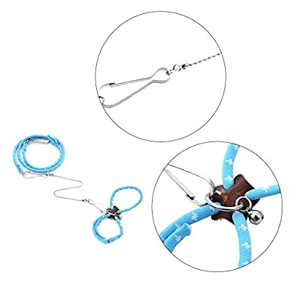 Adjustable Harness Vest and Leash Set Leads for Pet Dwarf Hamster Gerbil Rat Mouse Ferret Chinchillas Squirrel Small… 3