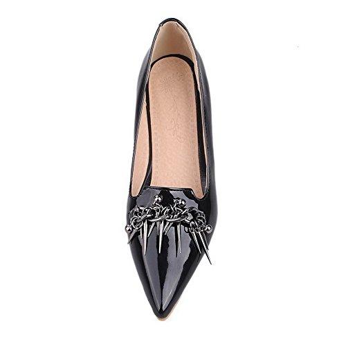 A Nera Donna Mosaico In Voguezone009 Vernice Scarpe Luce Disegna Destro Tallone Punta qR1ddxvYw