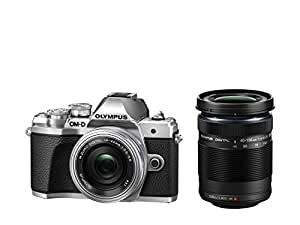 Olympus OM-D E-M10 Mark III Compact System Camera Double Zoom Lens Kit - Silver