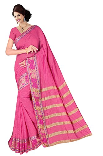 Boutique On Palm Bollywood Style New Generation Concept Party Wear Cotton Sarees (Light Pink Jacquard Lining Pallu)