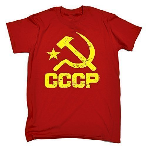 123t Men's CCCP RUSSIA LOOSE FIT T-SHIRT