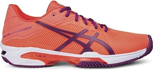 Asics Damen Tennisschuhe Outdoor Gel-Solution Speed 3 Clay Orange (33) 43,5EU