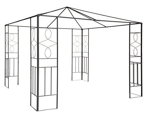 Trendkontor Pavillongestell aus Metall 4 Verschiedene Modelle (Romantik ohne Dachentlüftung/Kamin)