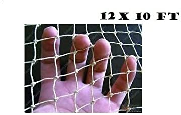 KRIWIN 12 X 10 FT (120 sq ft) Anti Bird Agro Net - White- High Quality Net with Nylon Ropes for Easy Tying (Niwad)