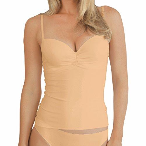 Damen BH-Top - Nina von C. - Secret - Caramel - Größe 80B - BH-Unterhemd mit Softschale - Formbügel - feminines BH-Hemd