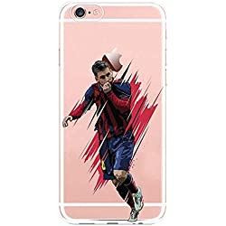 Desconocido Funda de Gel para iPhone X, Messi Carcasa iPhone Barcelona Futbolista Lionel Messi Barça