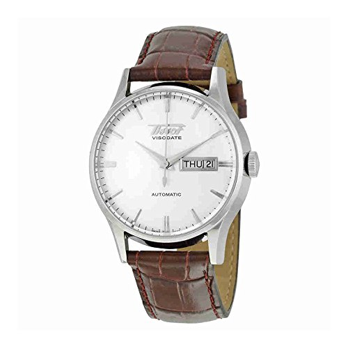 Tissot VISODATE T0194301603101 - Reloj de caballero de cuarzo, correa de piel color negr