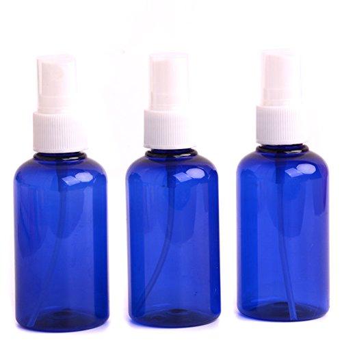 erioctry 75 ml (2,5 ml) Bleu Portable Rechargeable Fine Brume Parfum Make Up en plastique transparent vide Vaporisateur Pulvérisateur bouteilles cosmétique Vaporisateur Petit Pots (Lot de 3)