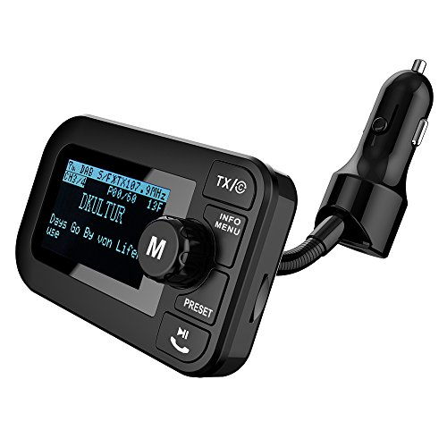 angmno DAB/DAB+ Radio Car Kit with Bluetooth FM Transmitter Car Charing Function TF Card MP3 Player 2.3