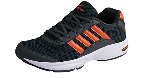 Campus ANTRO-3 Men Grey & Orange Sport Shoes Size- 9