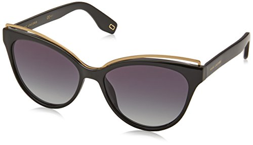 Marc Jacobs Metall-Braue Cateye Sonnenbrillen in schwarz MARC 301/S 807 55 9O Black Gradient Grey 55