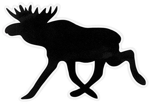 Aufkleber Elch, schwarz, 7cm
