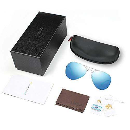 SJZV Sonnenbrillen für Männer Metallrahmen Polarisiertes Licht Hochwertige Gläser für Outdoor Geeignet