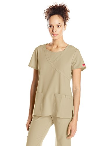 Dickies Damen Mock Wrap Top, 82814 -  braun -  (Damen Wrap Mock)