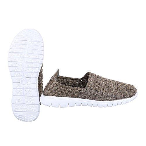 Ital-Design - Pantofole Donna Beige DSC002-7