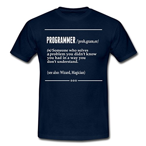 Spreadshirt Profession Humour Definition Programmer Men's T-Shirt