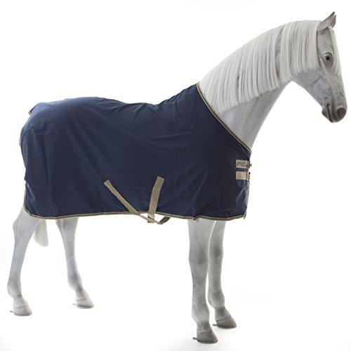 Horseware Amigo Mio Stable Sheet lite 0g - navy/tan&navy - Stalldecke, Groesse:125