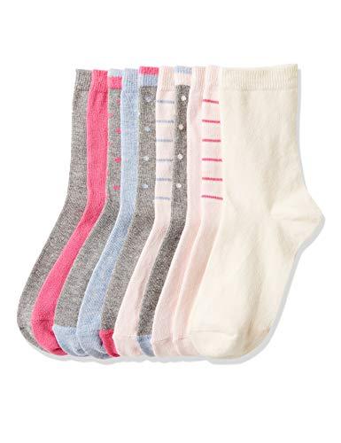 Red Wagon Mädchen Patterned Ankle Socken, Mehrfarbig (Multicolour), 27-30 (Herstellergröße: 6-9UK), 10er-Pack Multi Color Patterned
