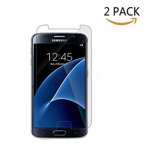 [2 PACK] Samsung Galaxy S7 Protecteur D'écran, Seprod Screen Protector pour écran Galaxy S7 HD en Verre Trempé Protecteur en Verre Trempé Film Protecteur Anti-rayures pour Galaxy S7