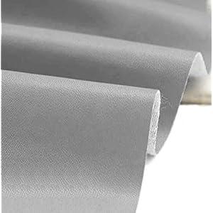 A-Express Kunstleder Lederimitat Lederstoff Polsterstoff Möbelstoff Meterware Bezugsstoff - Grau - 100cm x 140cm