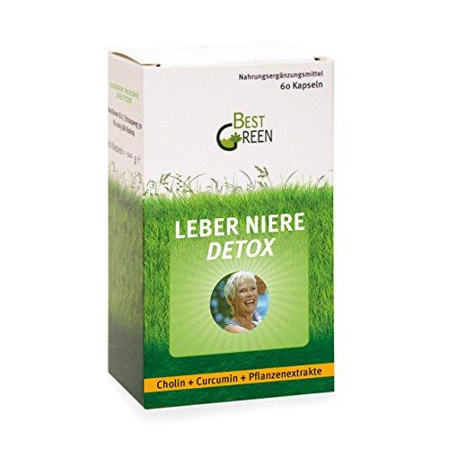 Artischocken-blatt-extrakt (Leber Niere Detox I 60 hochdosierte Kapseln I Cholin + Curcumin + wertvolle Pflanzenextrakte I 2 Monatsvorrat)