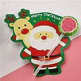 Decorazioni di Natale del regalo del partito 50Pcs Babbo Natale Penguin Lollipop Christmas Card Lolly a pan di zucchero