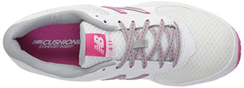 New Balance Women's WW411WT2 Walking Shoe, White/Pink, 10 B US White/Pink