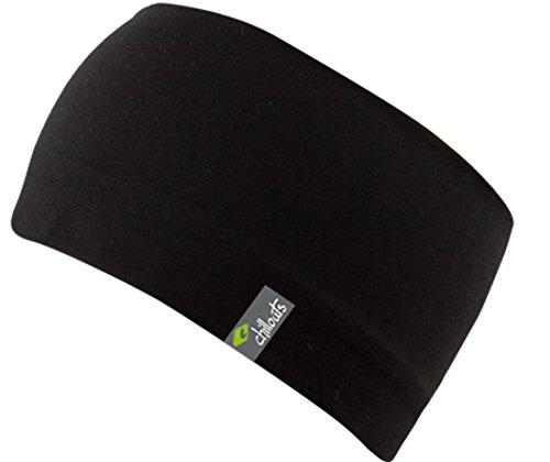 Eton Headband-sportliches Kopfband aus Baumwolljersey ,doppellagiger und atmungsaktiv, (black)