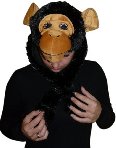 Affen-Kostüm Mütze, F76, Affen-Kostüme als Mützen, Affe Kostüme Affen-Faschingskostüm, Affen-Karnevalskostüm ,Fasching Karneval, Faschings-Kostüme, Geburtstags-Geschenk Erwachsene (Herren-affe)