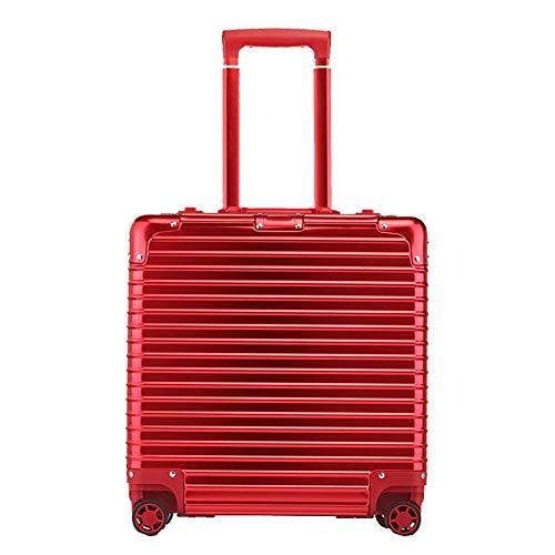 YUNY 18\ ABS Hardcase Wasserdicht Gepäck 4 Räder Rotating Gepäck Unisex (Schwarz, Small), Rot - Großen Rädern Erweiterbar Kurze