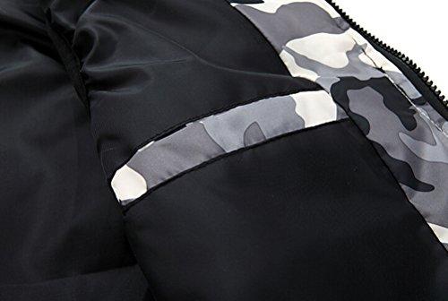 Brinny Liebhaber Herren Jungen Kapuzenweste Tarnung Slim fit Mode Hoody Gilet Steppjacke Übergangsmantel ärmellos 6 Größen Grau
