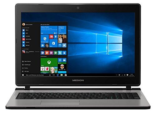 MEDION AKOYA E6432 39,6 cm (15,6 Zoll Mattes Full HD Display) Notebook (Intel Core i3-6157U, 6GB RAM, 1TB HDD, 128GB SSD, Intel-Iris, DVD, Win 10 Home) Silber