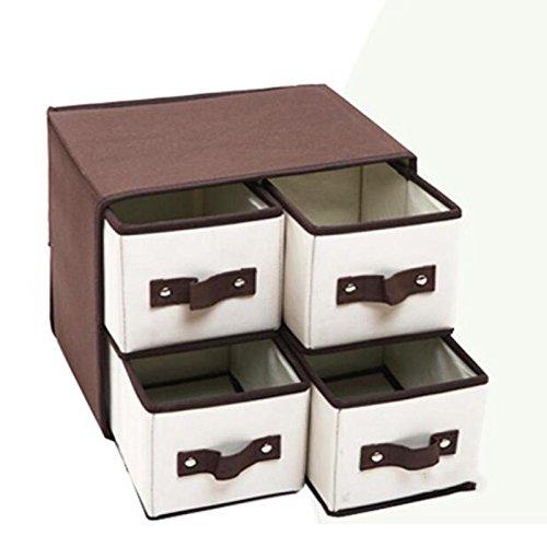 XIAOLI& Oxford Hierarchische Speicherschränke Mit Schubladen Finishing Unterwäsche Box Faltschachtel, 4 (Schublade Oxford Vier)