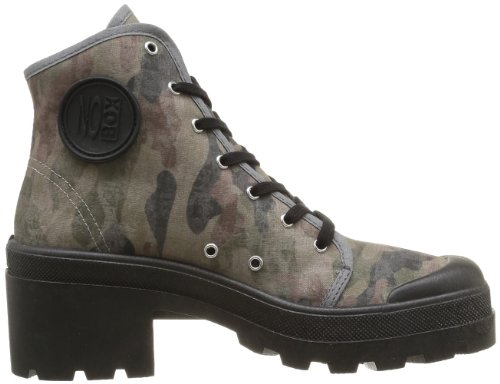 No Box Galia, Damen Sneakers Schwarz (Noir (Camouflage))
