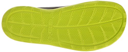 crocs Herren Swiftwater Wave Brogue, Grau Grau (Graphit / Volt / Grün)