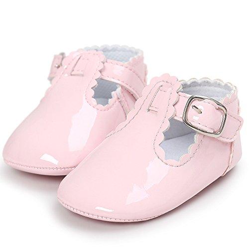 ♥ Loveso ♥ Baby Shoes Schuhe Baby Buchstabe Prinzessin weiche alleinige beiläufige Kleinkind Turnschuh Schuhe Rosa