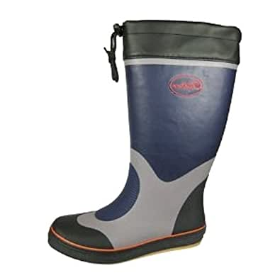 Mens Sailing Wellies Navy/Grey size 7 UK