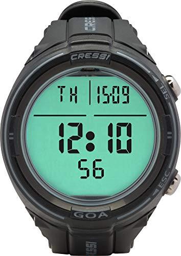 cressi goa orologio/computer professionale subacqueo, nero/grigio, unica