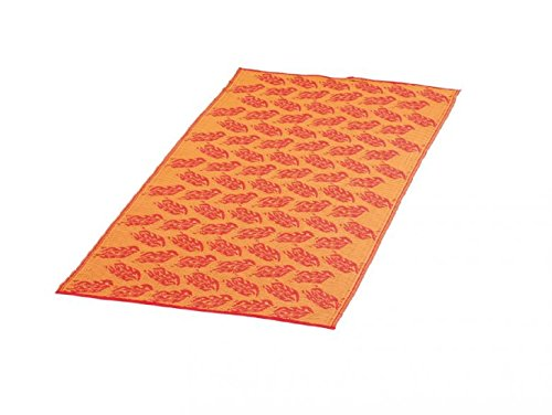 Strandmatte ca. 180 x 90 cm PP Material gerollt Cooles Oranges Design / Stand Matte