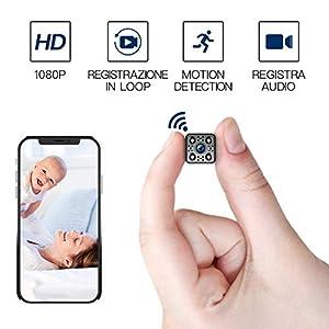 FREDI HD1080P WIFI telecamera Spia videocamera nascosta Microcamera Wireless Mini Camera spia microtelecamera wifi… 41I%2BgMvWWSL. SS300