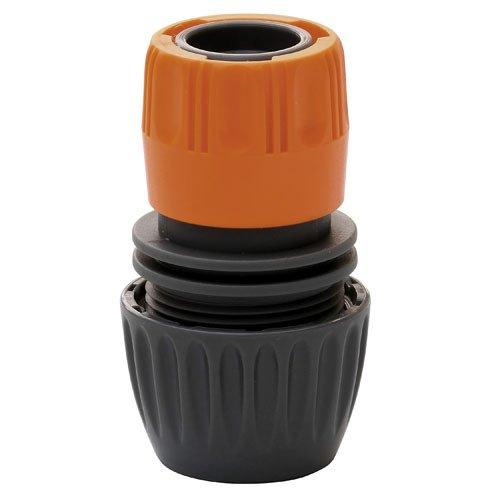 Saturnia Papillon 8061405 – connecteur Tuyau Plastique Universelle, Couleur Gris et Orange