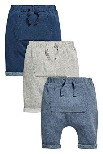 next Bimbo Confezione Da Tre Pantaloni Da Jogging Grigi/Blu Navy/Blu (0 Mesi-2 Anni) Blu 3-6 Mesi