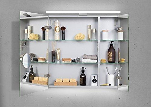 Spiegelschrank Bad 60 cm LED Beleuchtung doppelt verspiegelt - 2
