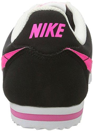 Nike Cortez Nylon Gs, Chaussures de Running Entrainement Fille Multicolore (Black/pink Blast-white)