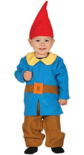 Guirca Costume Gnomo Elfo Baby per Bambini 6-12 Mesi, Multicolore, 87612