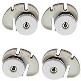Spares2go cestello inferiore sinistra/destra ruota per Rex lavastoviglie (confezione da 4)